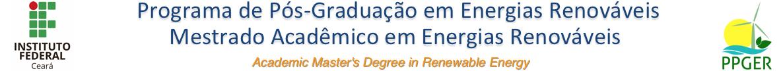 PPGER - Pós-graduação em Energias Renováveis -  IFCE