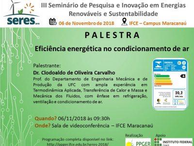 """PALESTRA """"Eficiência energética no condicionamento de ar"""""""