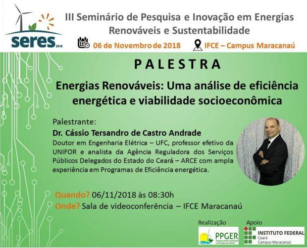 PALESTRA Energias Renováveis: Uma análise de eficiência energética e viabilidade socioeconômica
