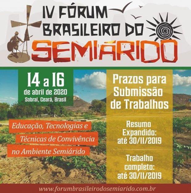 IV Fórum Brasileiro do Semiárido – FBSA 2020
