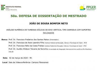 50ª Defesa Pública PPGER
