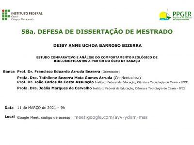 58a Defesa Pública do PPGER
